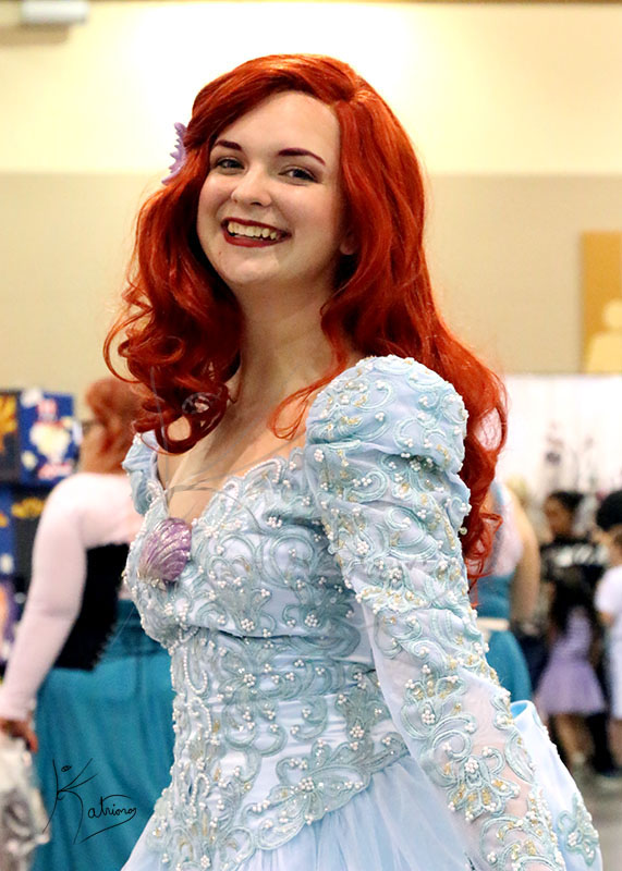 Lovely Red Haired Princess At Phoenix Comicon. Ariel?