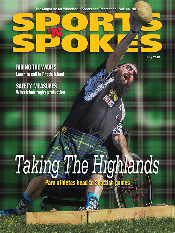 Sports & Spokes Magazine Cover July 2018